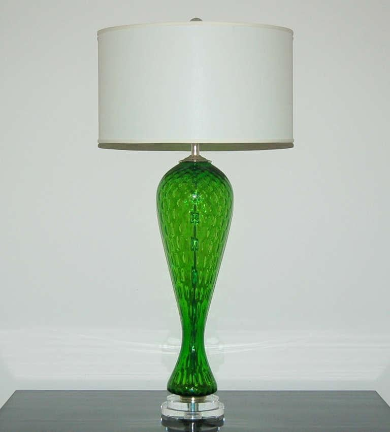 glass window pane bubble murano vintage glass windowpane table lamps green for sale image of 11 exceptional decaso