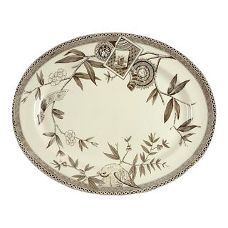 "Antique Wedgwood Louise 15"" Oval Serving Platter For Sale"