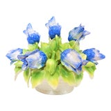 Image of Large Vintage Italian Majolica Polychrome Tulip Centerpiece For Sale