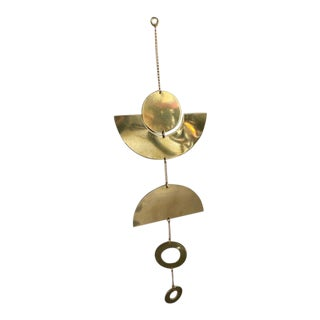 Contemporary Handmade Brass Wall Hanging For Sale