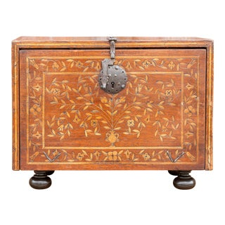 Spanish Vine Motif Inlaid Bargueno For Sale