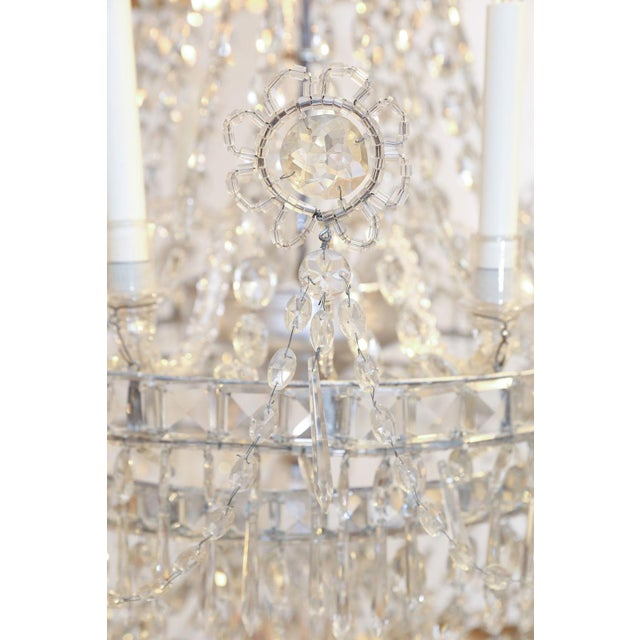 Early 19th Century Large Eight-Light Crystal Chandelier For Sale - Image 5 of 8