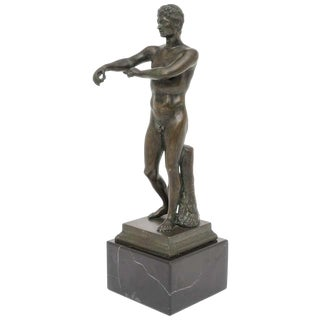 Grand Tour Bronze Figure of an Athlete For Sale