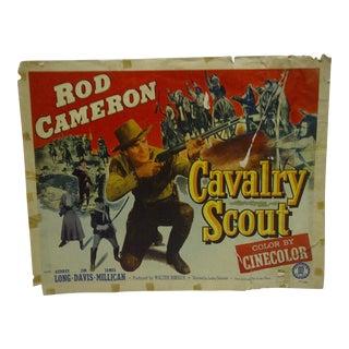 """Vintage 1951 """"Cavalry Scout"""" Audrey Long & Jim Davis Movie Poster"""