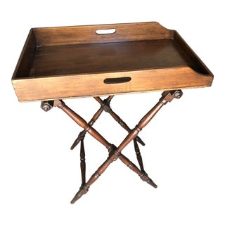 19th Century English Traditional Period Butlers Tray on Stand