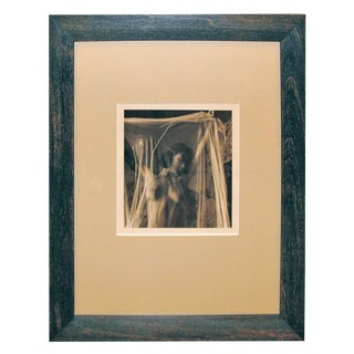 """Nude Woman in Mesh"" Sepia Toned Photograph For Sale"