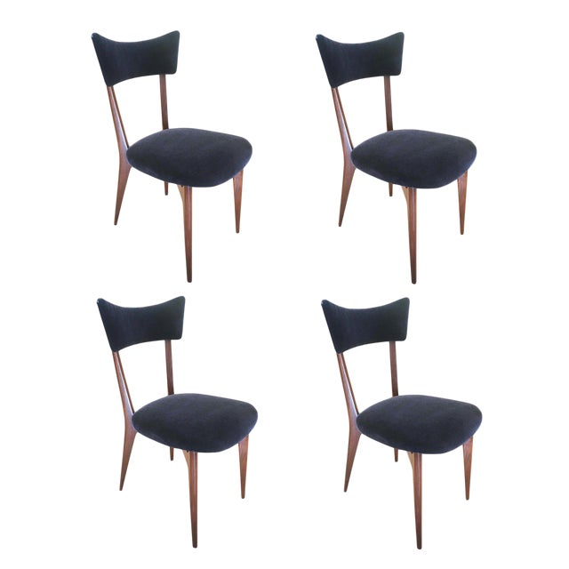 Set of Four Chairs by Ico Parisi, Italy, 1940s For Sale