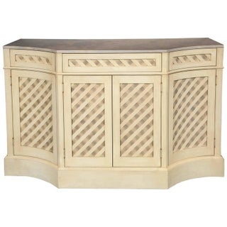 Marble-Top Checkerboard Sideboard For Sale
