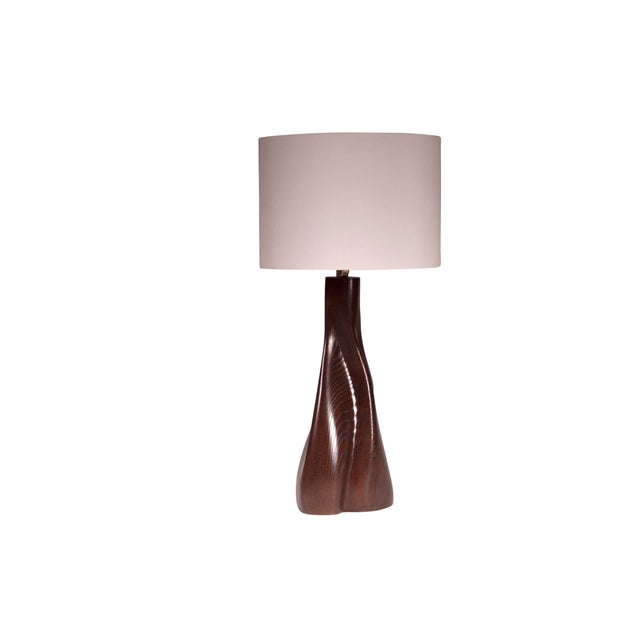 Contemporary Nectar Table Lamp - Dark Brown For Sale - Image 3 of 8
