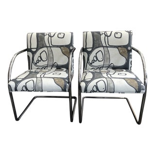 1960s Vintage Chrome Chairs- A Pair For Sale