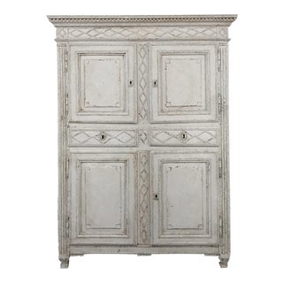 Early 19th Century French Louis XVI Painted Cabinet For Sale