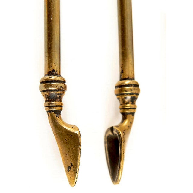 Georgian Brass Fireplace Tools - Set of 3 For Sale - Image 6 of 10