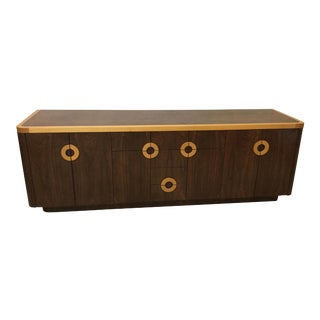 1980s Yacht Style Wood Credenza
