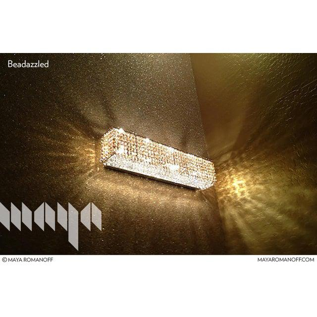 Contemporary Sample, Maya Romanoff Beadazzled - Glass Beads Wallcovering For Sale - Image 3 of 9