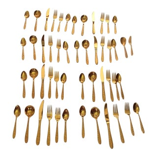 National Silver Co. Gold Electro-Plated Utensils - Service for 8