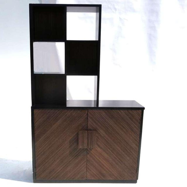 Brown 1950s Paul Frankl Stepped Room Divider Cabinet For Sale - Image 8 of 8