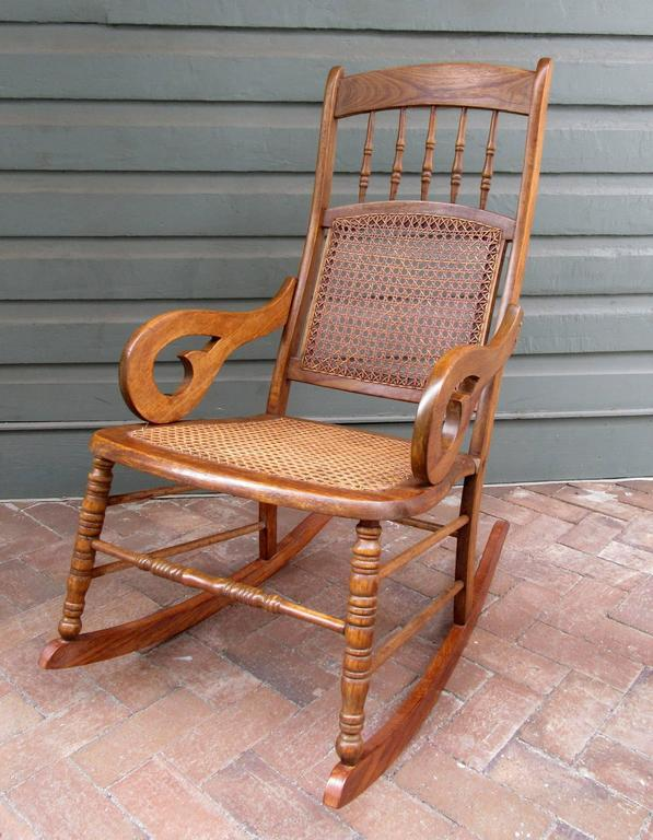 Mid 19th Century St. Croix Regency Mahogany And Cane Rocking Chair   Image 3