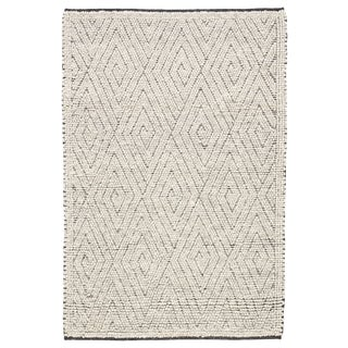 Jaipur Living Kohinoor Handmade Geometric Gray & Cream Area Rug - 9' X 12' For Sale