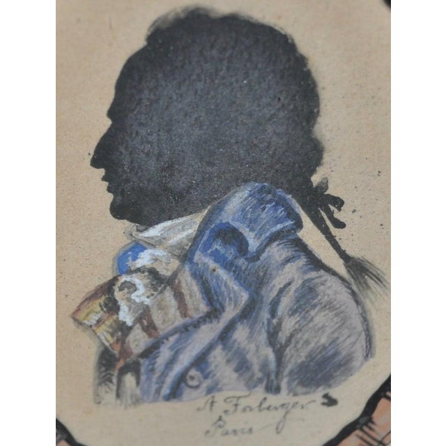 18th C. Gentleman's Silhouette Portrait For Sale - Image 4 of 5