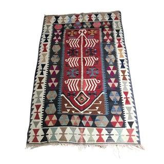 Vintage Anatolian Kilim Rug - 3′6″ × 5′7″ For Sale