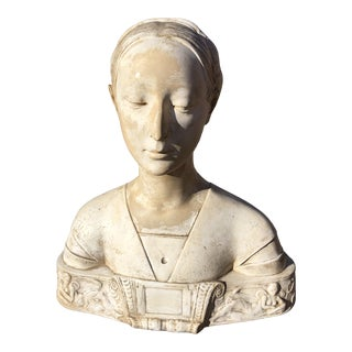 1920s Vintage Classical Plaster Bust For Sale