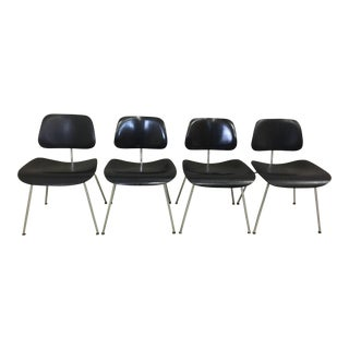 Eames Black Bent Plywood Chairs - Set of 4