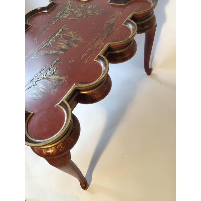 Italian Hand Painted Chinoiserie Coffee Table For Sale - Image 12 of 13