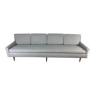 Gray Edward Wormley Extra Long Sofa For Sale