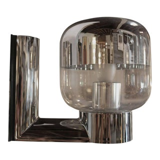 1970s Chromed and Glass Wall Sconce by Staff, Germany For Sale