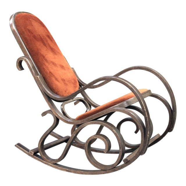 1950s Vintage Thonet Style Brentwood Rocking Chair For Sale