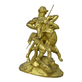 Late 19th Century Antique Emmanuel Fremiet French Sculpture For Sale