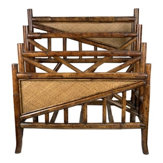 Vintage Canterbury Bamboo Magazine Rack For Sale