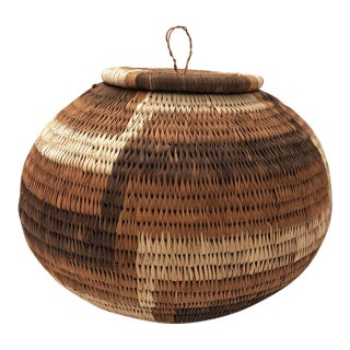 1970s African Grain Basket For Sale