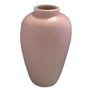 1980s Vintage Pink Ceramic Vase For Sale