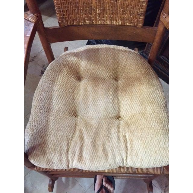 Teak Rattan Rocking Chair - Image 10 of 11