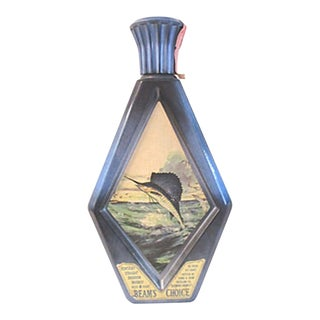 1970s Sailfish Blue Liquor Decanter For Sale