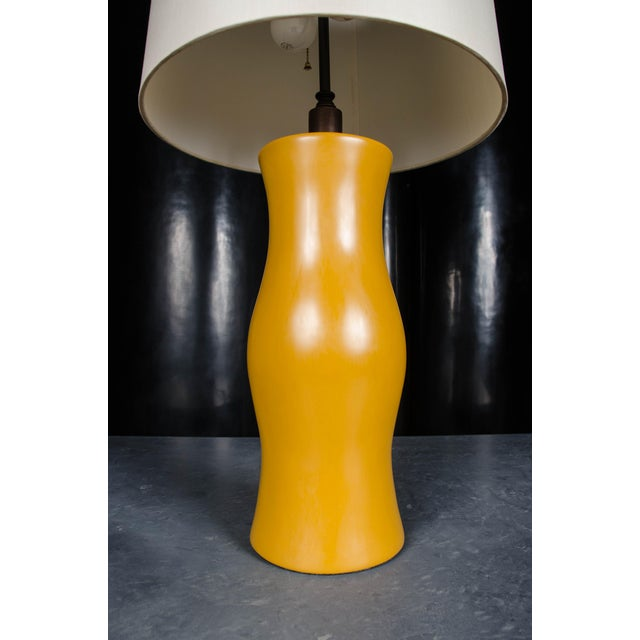 Contemporary Du Table Lamp - Ochre Lacquer For Sale - Image 3 of 3