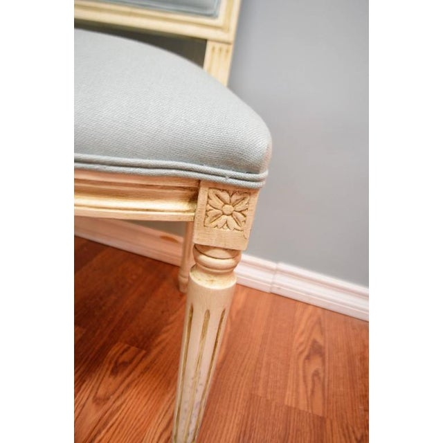 New Louis XVI style dining chair with a square back, made in Italy of beech wood. You can buy as many as you need, we...