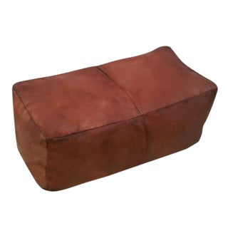 Benny Moroccan Leather Ottoman Bench