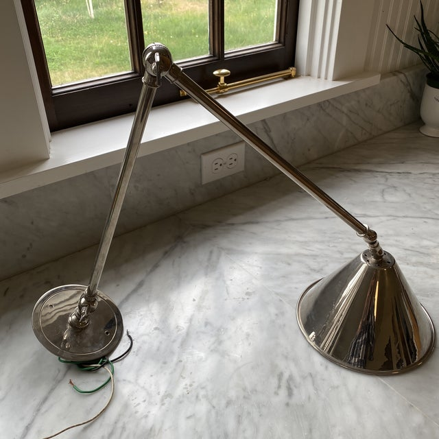 Traditional Urban Archaeology - Articulated Library Light/Sconce in Satin Nickel For Sale - Image 3 of 9