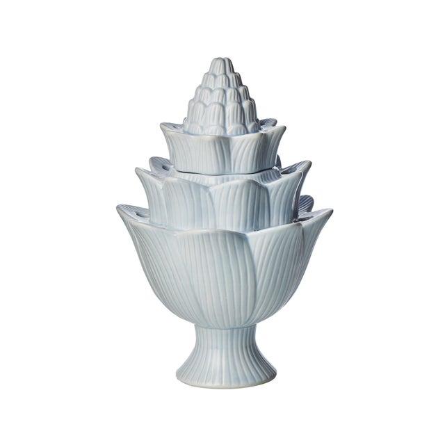 Contemporary Small Light Blue Artichoke Tulipiere For Sale - Image 3 of 3