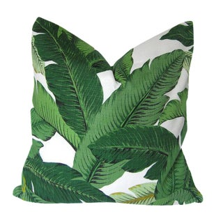 Tommy Bahama Palm Leaves Tropical Pillow Cover For Sale