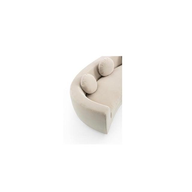 Modern Vesta Maxine Rounded Sofa For Sale - Image 3 of 6