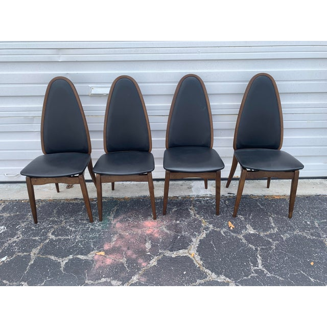 Mid-Century Modern 1960's Stakmore Danish Modern Game Table and 4 Chairs - 5 Pieces For Sale - Image 3 of 9