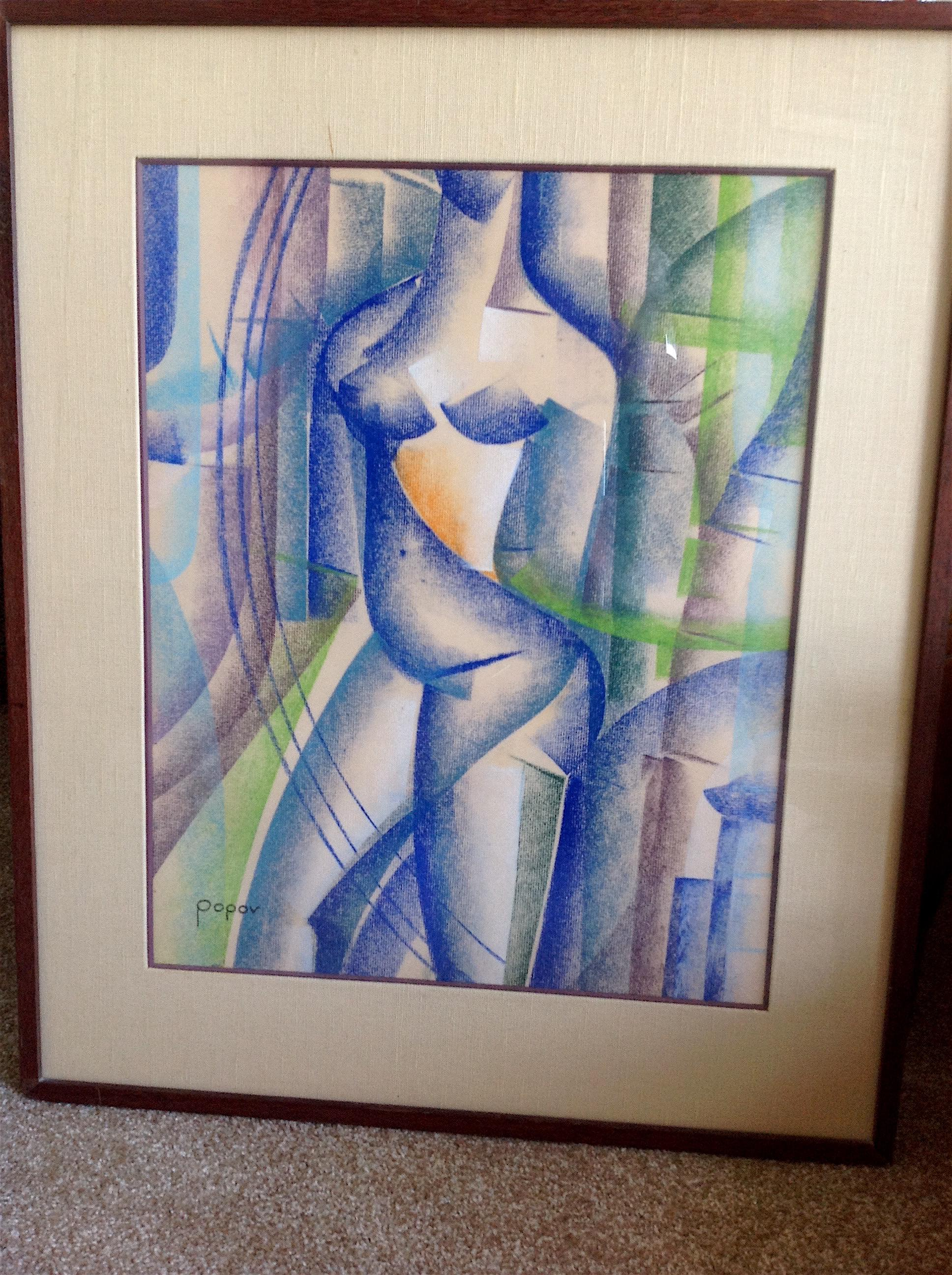 Cubist nude at the cross