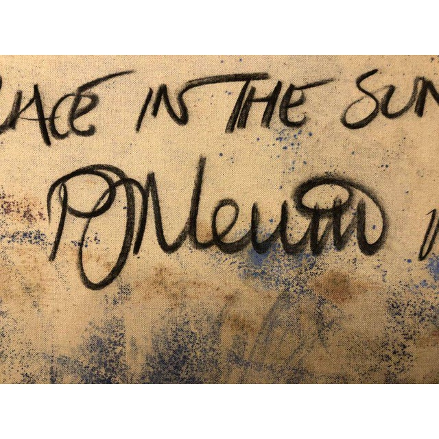 Oil on Canvas Signed and Dated 'A Place in the Sun' by D. Nevins '88 For Sale - Image 10 of 12