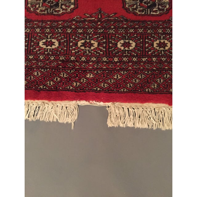 Hand Knotted Woolen Bokhara Rug - 4' x 6' For Sale In New York - Image 6 of 10