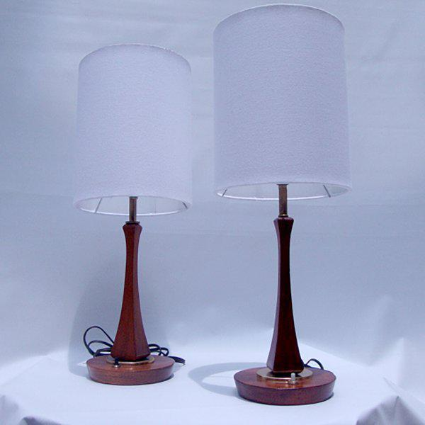 Pair of Mid-Century Modern Sculptural Table Lamps For Sale In San Diego - Image 6 of 6