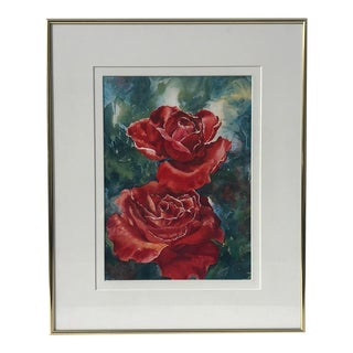 Original Watercolor Roses by Connie Glowacki For Sale