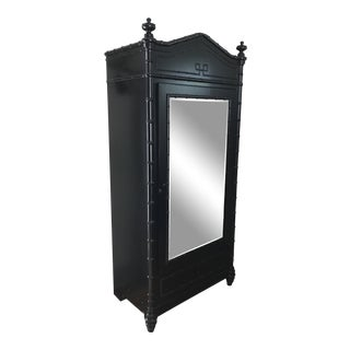 Mediterranean Style Williams Sonoma Matte Black Armoire